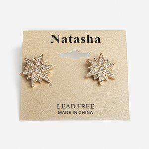 NEW! Natasha Crystal Star Stud Earrings